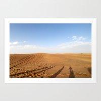 Desert Trip from Dubai Art Print