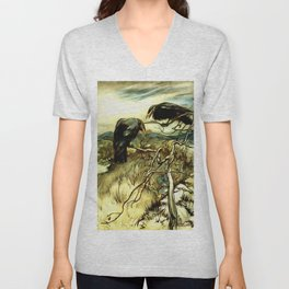 The Two Crows Unisex V-Neck