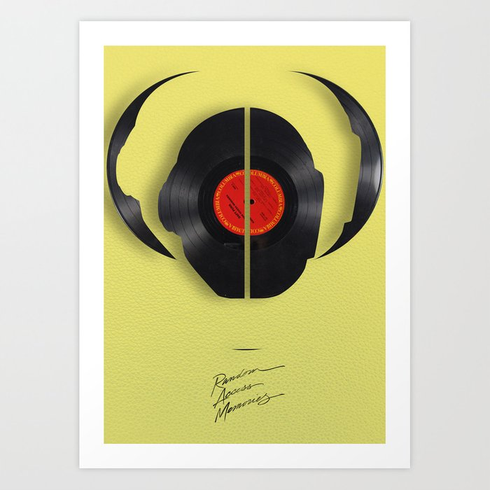 Daft Punk Vinyl Art Print by theunitedgeekdom | Society6