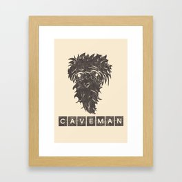 Caveman Framed Art Print