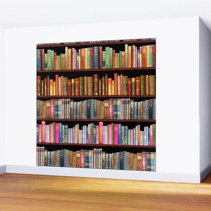 Vintage books ft Jane Austen & more Wall Mural
