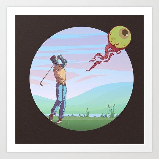 Zombie golf Art Print