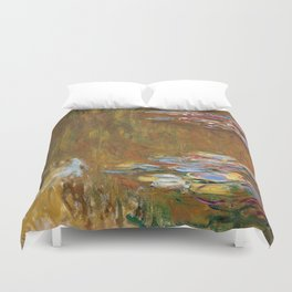 1917-Claude Monet-The Water Lily Pond Duvet Cover