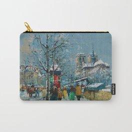 Notre-Dame et les Quais, Winter, Paris by Antoine Blanchard Carry-All Pouch