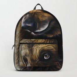 Brown Bear Art Backpack