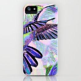 Jeweled Hummingbird in Flight iPhone Case