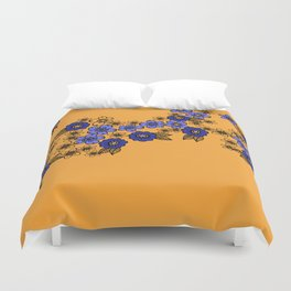 blossom of Flowers blue - yellow Duvet Cover