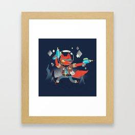 Bounty Hunter Space Cat Killa Framed Art Print
