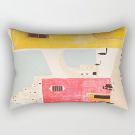 Spain Vintage Travel Poster Mid Century Minimalist Art Rectangular Pillow