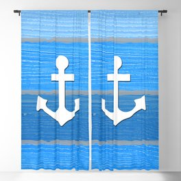 Nautical themed design Blackout Curtain