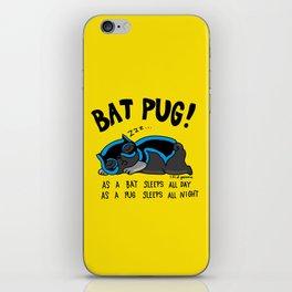 Black Bat Pug! iPhone Skin