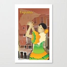 Hispanic Heritage Series - Espana Flamenco Dancer Canvas Print
