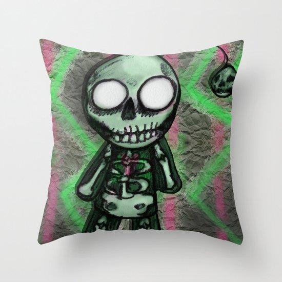 SkeltoBob Throw Pillow