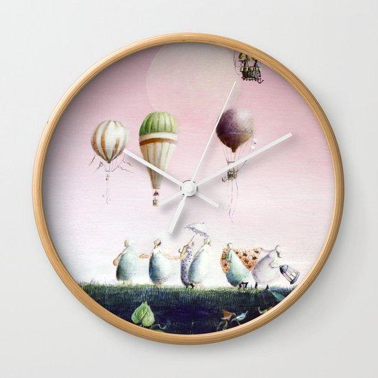 Un Deux Trois Wall Clock