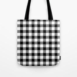 Black & White Vichy Tote Bag