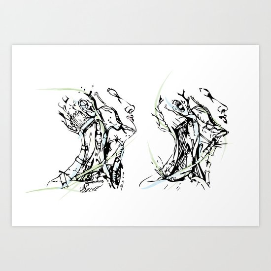 head and neck Art Print