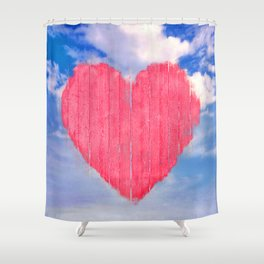 Pop Art Style Love Concept Shower Curtain