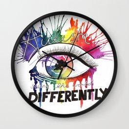 Rainbow Autism Awareness Wall Clock