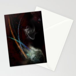 abstract space...in space! Stationery Cards
