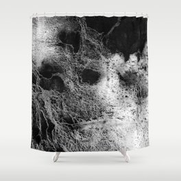 The Teresa / Charcoal + Water Shower Curtain