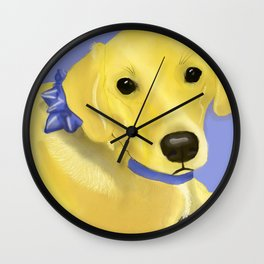 Warholesque Dog Wall Clock