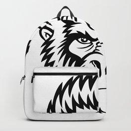 Gorilla Monkey Head Gift Idea Design Motif Backpack