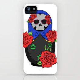 Skull matrioska iPhone Case