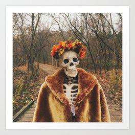 Autumn-Winter Princess Art Print