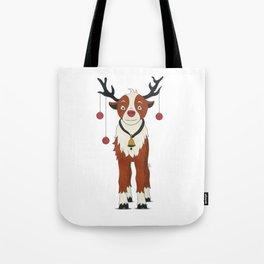 Reindeer Rudolph Tote Bag