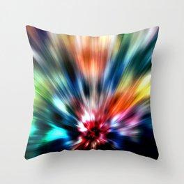 Burst of Colors Throw Pillow