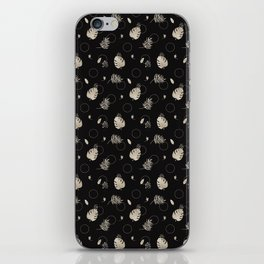 Silver Tropical Summer NEVER LOOK BACK typography iPhone Skin