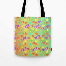 colorful happy birds party Tote Bag