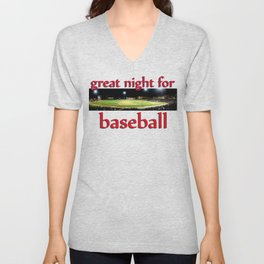 night at the ballpark  Unisex V-Neck