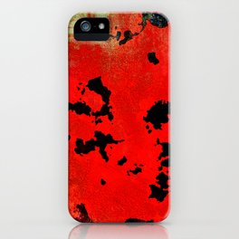 Red Modern Contemporary Abstract Textured Design iPhone Case