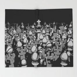 The Chess Crowd Throw Blanket
