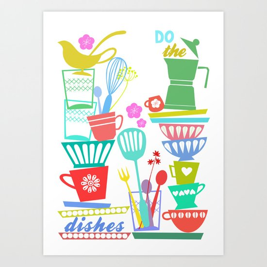 Dishes Art Print