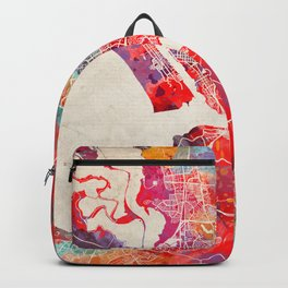 Vallejo map California painting 2 Backpack