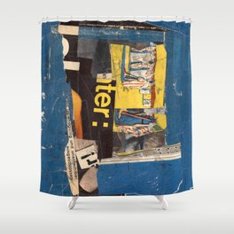 fundamental blue Shower Curtain