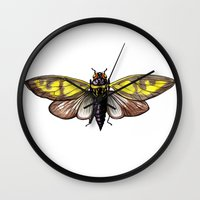 insect Wall Clocks featuring Insect by Freja Friborg