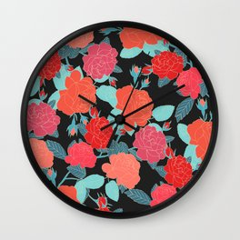 Rose Garden - Dark Wall Clock