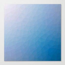 Blue flakes. Copos azules. Flocons bleus. Blaue flocken. Голубые хлопья. Canvas Print