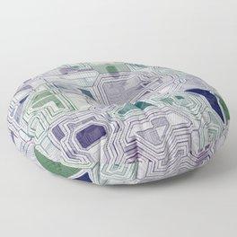 Computer digital green and purple Floor Pillow