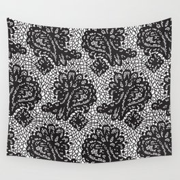 Lace in black Wall Tapestry