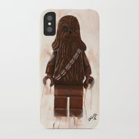 chewbacca iPhone & iPod Cases featuring Lego Chewbacca by Toys 'R' Art