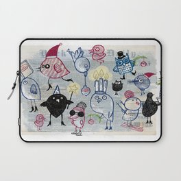 Swedish XMAS birds Laptop Sleeve