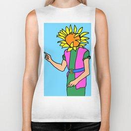 sunflower paintings, sunflower art, sunflower illustrations Biker Tank