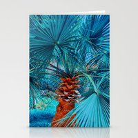 palm tree Stationery Cards featuring Palm Tree by DistinctyDesign