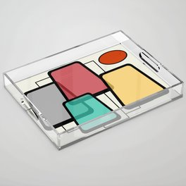 Mid-Century Modern Art Landscape 1.1 Acrylic Tray