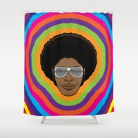 afro Shower Curtains featuring Afro Funky by Roberlan Borges
