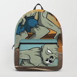 Vintage Ghoul Crossing The Road, Hand Drawn Halloween Poster Backpack